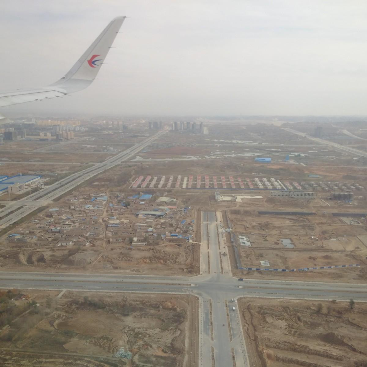 Lanzhou New Area as seen from above. (Photo by the author)